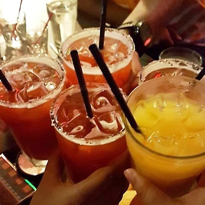 drinks at cafe iguana
