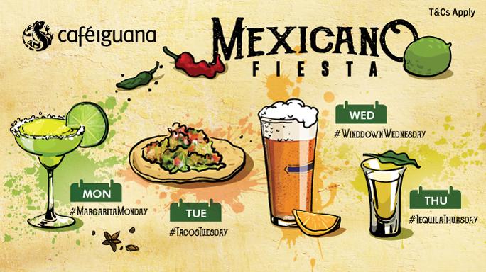 Mexicano Fiesta @ Café Iguana!